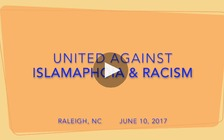Members of MERI and other groups held a counter protest in Raleigh to speak out against Islamophobia. (UE Local 150)