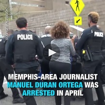 Duran live-streamed his arrest and shared it on Facebook. (Free Press/Facebook)
