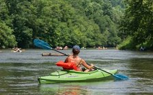 Hundreds of thousands float the New River in Ashe County ever year. (New River Conservancy)