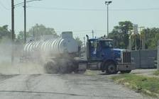 Increased truck traffic is among the concerns of residents near the U.S. Ecology plant. (D. Weckerle)