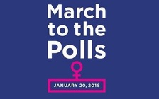 Marchers across the globe hope to empower more women to run for political office. (marchtothepolls.org)
