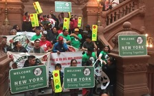 Immigrants and advocates rallied in Albany on Wednesday for passage of Assembly Bill 10273. (Green Light Campaign)