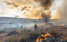 Eight in 10 people in Idaho see wildfire smoke as a natural hazard, according to new research. (Neal Herbert/U.S. Interior Dept.)