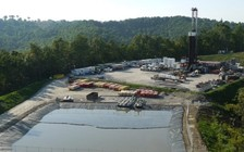 An investigation by Rolling Stone magazine found the waste brine from Marcellus wells is radioactive enough to be seen as a threat to workers and the public. (Vivian Stockman/Ohio Valley Environmental Coalition)