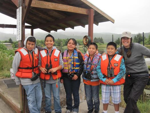 PHOTO: Siletz Bay National Wildlife Refuge is hosting summer kayak and canoe tours in Spanish as well as English this summer, to encourage more Spanish speakers to enjoy and explore the bay. Photo courtesy of the Bureau of Land Management.