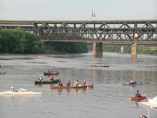 PHOTO: More than 600 paddlers, plus hundreds more support staff and officials, will take to the water over the next several days to draw attention to water quality concerns and raise funds to preserve the Missouri River. Photo courtesy Missouri American Water