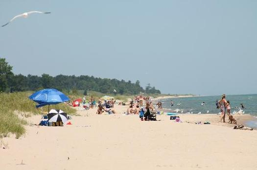 PHOTO: Summer beach-goers to Kohler-Andrae Beach near Sheboygan might not have realized the National Resources Defense Council has just ranked Wisconsin beaches eighth-worst in the nation for water pollution. Photo courtesy Wisconsin Dept. of Natural Resources.