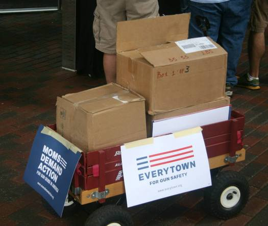 PHOTO: More than 14,000 Michiganders have written to Michigan Gov. Rick Snyder, asking him to take steps to promote responsible gun ownership in Michigan. Photo credit: Kristen Moore, Everytown for Gun Safety.