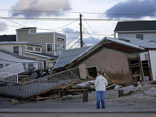 PHOTO: Coastal storm damage, like the destruction pictured here in the wake of Superstorm Sandy, will become more frequent as sea levels rise through the remainder of the century in the Northeast, according to a new report. Photo courtesy of the Risky Business Project.