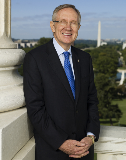 PHOTO: Senate Majority Leader Harry Reid is among those supporting a proposed constitutional amendment that would give Congress and the states control of political campaign spending. The measure is scheduled for a vote Thursday. Photo courtesy of the Office of Senator Reid.