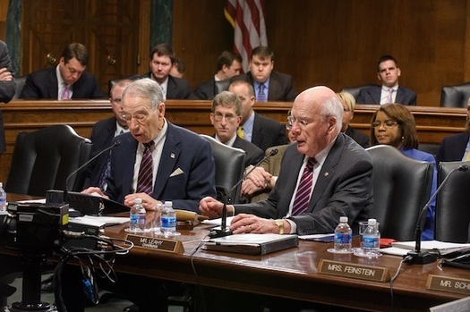 PHOTO: The U.S. Senate Judiciary Committed voted on Thursday to pass a proposed constitutional amendment to give states and Congress more control of political campaign spending. The 10-8 vote was along party lines. Photo courtesy U.S. Senate Judiciary Committee.