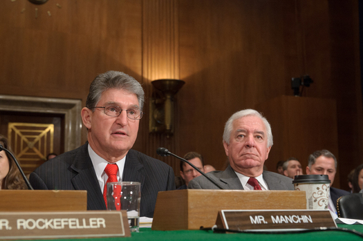 PHOTO: Sen. Joe Manchin, seen here with W.Va. Rep. Nick Rahall, is now co-sponsoring a constitutional amendment to limit campaign spending. Manchin said big money is at the root of Washington gridlock. Photo courtesy of Sen. Joe Manchin.