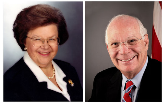 PHOTO: Senators Barbara Mikulski and Ben Cardin are co-sponsors of a proposed constitutional amendment giving Congress and states control of political campaign spending. A committee vote is expected Thursday. Photos courtesy of Senator Mikulski and Senator Cardin's offices.