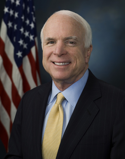 PHOTO: Senator John McCain, once an advocate for campaign finance reform, is among those opposed to a proposed constitutional amendment that would give Congress and states control of political campaign spending limits. Photo courtesy of the Office of Senator McCain.
