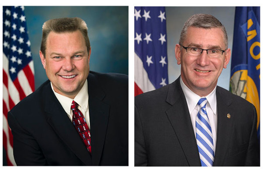 PHOTO: Senators Jon Tester and John Walsh of Montana are co-sponsors of a proposed constitutional amendment giving Congress and the states control of political campaign spending. A committee vote is expected Thursday. Photos courtesy of Senator Tester and Senator Walsh's offices.