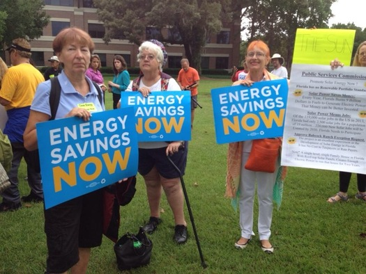 PHOTO: Concerned citizens and conservation groups are attending the three-day meeting of the Florida Public Service Commission in Tallahassee to protest rollbacks in conservation rebates for energy consumers. Photo by: Ivan Penn.
