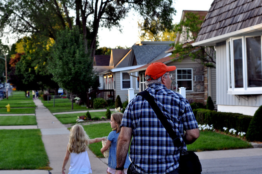 PHOTO: An AARP study says 90 percent of the 45+ population would like to stay in their community and near family and friends as they age. Making it convenient to walk instead of drive is one way to help. Photo credit: AnneCN/Flickr