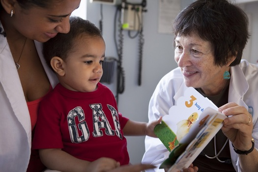 PHOTO: The national organization Reach Out and Read distributes books through pediatrician offices at children's well-check visits. Photo courtesy of Reach Out and Read.