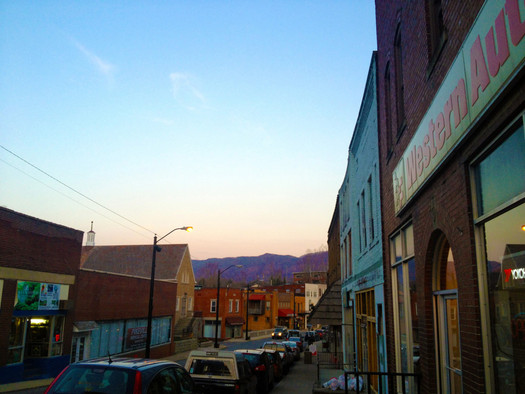 PHOTO: What's happening on Main Street in Whitesburg is one example of economic diversification being highlighted at the Appalachia's Bright Future event this weekend. Photo courtesy of Art of the Rural.