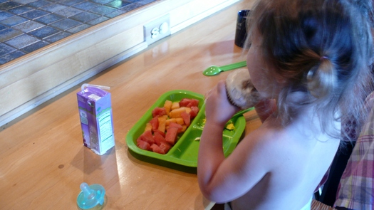 PHOTO: Kentucky is working to reduce high rates of childhood obesity, and experts say the earlier healthy eating habits are established in a child's life, the better chance of preventing obesity. Photo credit: Greg Stotelmyer.
