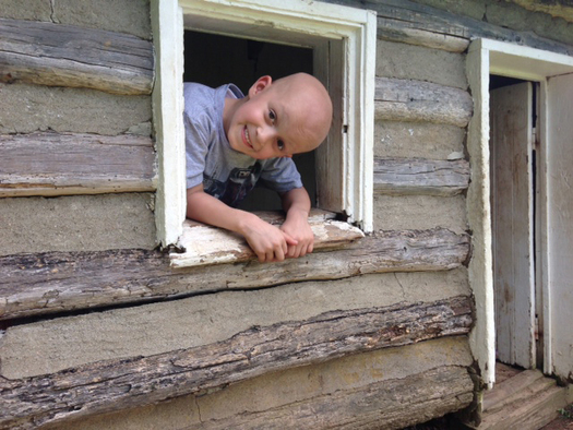 PHOTO: In Lexington, five-year-old Paxton Bloyd is battling a rare form of lymphoma. His mother says more funding is needed for pediatric cancer research. Photo courtesy of Jamie Ennis Bloyd.