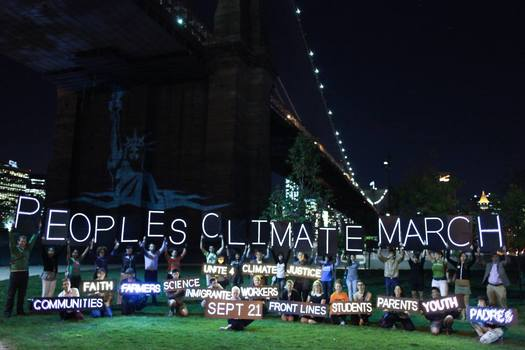 PHOTO: Several Nevadans are headed to New York City to take part in the People's Climate March being held Sunday in advance of the Climate Summit at the United Nations next week. Photo courtesy of People's Climate March.