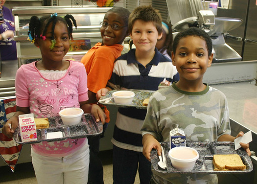 Photo: New Census data indicates children who receive adequate food at home, and at school, also perform better academically in school. Photo courtesy: The Children's Aid Society.