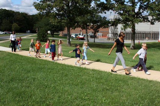 PHOTO: The goal of Walk to School Day is to get children to become more active, while raising awareness about the need for safe routes for the kids. Photo credit: woodleywonderworks/Flickr.