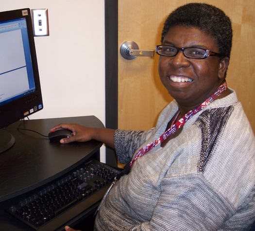 PHOTO: Through Project RISE, young adults with disabilities are able to gain hands-on work experience, both in paid and volunteer positions, throughout Children's Mercy Hospitals and Clinics. Photo courtesy of K. Smith.