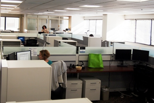 PHOTO: What's really going on in these cubicles? An estimated 27 percent of Americans say they are victims of workplace bullying. Photo credit: Federal Emergency Management Agency.