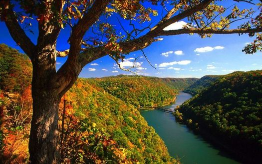 PHOTO: The EPA is taking comments on a proposed rule that would clarify which West Virginia waterways, like the New River viewed here from Hawk's Nest State Park in Fayette County, would receive protection under the Clean Water Act. Photo credit: Steve Shaluta Jr.