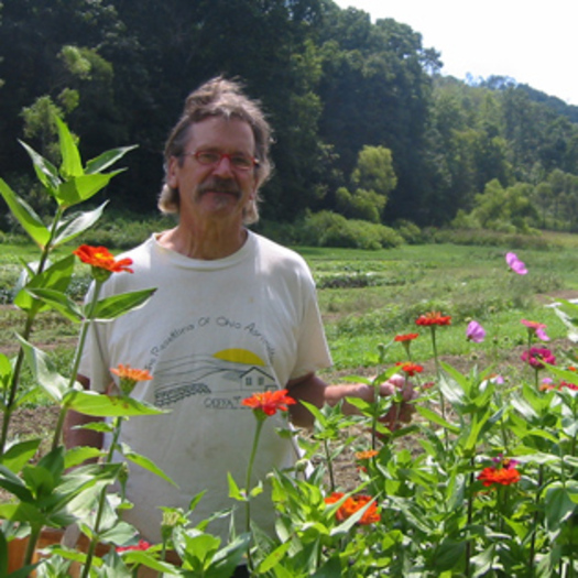 PHOTO: Certified organic farmer Mick Luber of Bluebird Farm in Cadiz, Ohio, says he's concerned about what possible contamination from nearby fracking operations could mean for the future of his business. Photo credit: Ohio Ecological Food and Farm Assn.