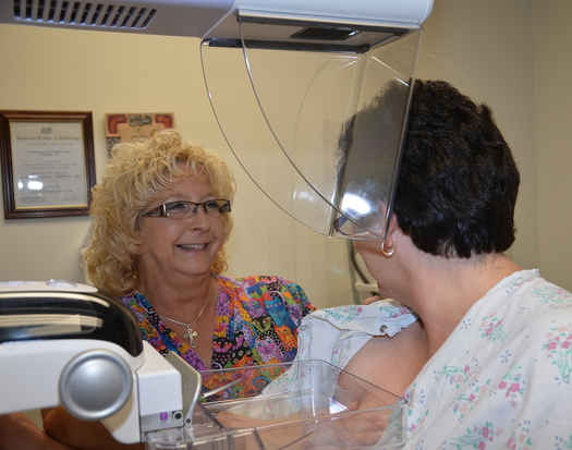 PHOTO: A mammography offers the best tool to detect breast cancer early, increasing treatment options and improving odds of survival. Photo credit: Army Medicine/Flickr.