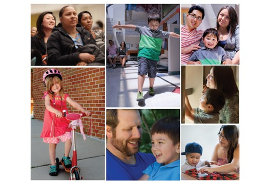 PHOTO MONTAGE: According to a new report, helping children in poverty works best when you help the whole family at once. Courtesy of the Annie E. Casey Foundation.