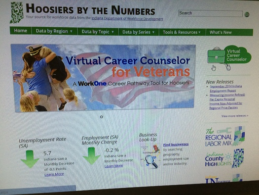 PHOTO: Indiana's Virtual Career Counselor helps veterans apply the skills they've acquired during years of military experience into jobs and careers in the civilian workforce. Photo credit: M. Kuhlman.