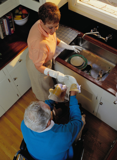 PHOTO: Eighty-four percent of Oregonians age 45 and older said they help older loved ones with household chores. Transportation, shopping and medication management are other common responsibilities of family caregiving that allow people to remain in their homes. Photo courtesy of AARP.
