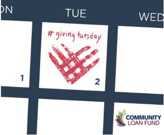 PHOTO: The New Hampshire Community Loan Fund is one of 10,000 nonprofits and organizations worldwide participating in #GivingTuesday. You can get involved by making a donation or just spreading the word. Credit: from GivingTuesday.org