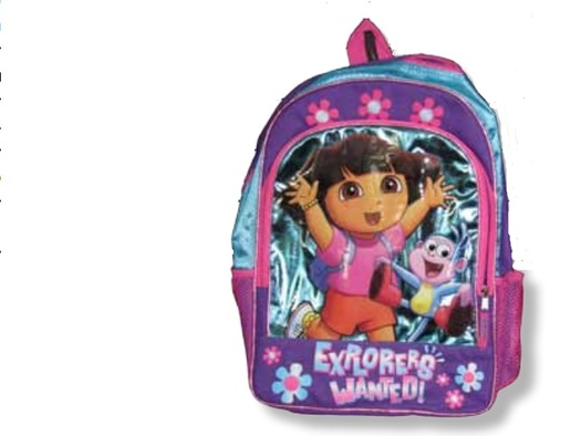 """PHOTO: A Dora backpack is among two dozen toys named as potential hazards for children in the latest edition of the annual """"Trouble in Toyland"""" report. Photo courtesy of U.S. Public Interest Research Group."""