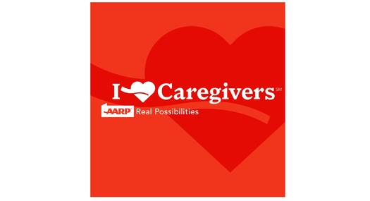 GRAPHIC: AARP is calling on Virginians to recognize and support the contributions of unpaid family caregivers. The logo of AARP's AARP.org/iheartcaregivers website courtesy of the organization.