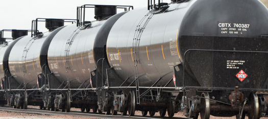 PHOTO: A federal lawsuit filed this week asks the U.S. Department of Transportation to ban the use of DOT-111 tank cars for shipping crude oil. Photo credit: Citizens Acting for Rail Safety