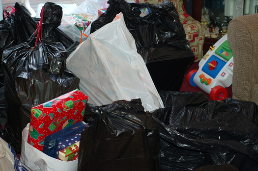 PHOTO: The trash generated by the average American household jumps by 25 percent during the holidays, but with some planning before shopping, that doesn't have to be the case. Photo credit: Tarah Tamayo/Flickr.
