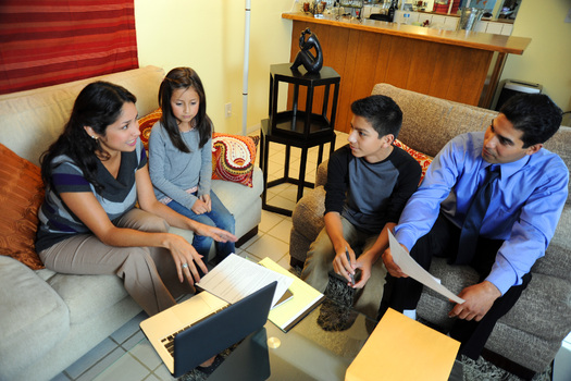 PHOTO: Young families don't always have a lot to smile about. Those who are struggling may benefit from home-visiting services, and a number of New Mexico organizations want to make sure Congress renews funding for these programs. Photo credit: FEMA.