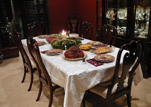 PHOTO: While the holiday dinner table may look perfect, the family that gathers around it might not be! If get-togethers are a source of conflict, mental health experts say it's OK to pace yourself, and even say 'no' to some stressful situations. Photo credit: SDRandCo/morguefile.