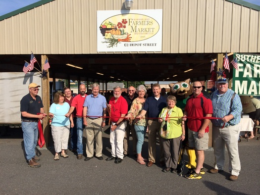 PHOTO: As part of the EPA's 'Local Foods, Local Places' initiative, Rutherford County was able to relocate its farmers' market to the Florence Mill property in Forest City. Photo courtesy of NC Extension Service
