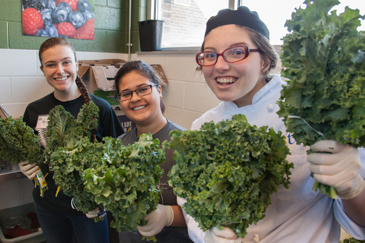 PHOTO: Have some greens with that! Ohio's largest sustainable agriculture conference is expected to draw nearly 1200 people, for its lineup of expert advice about farming, growing, cooking and other ag-related topics. Photo credit: George Remington.