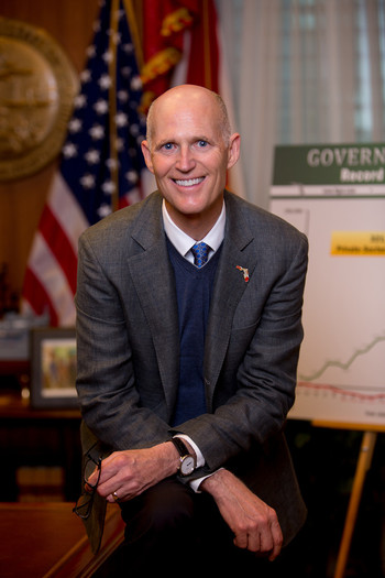 "PHOTO: Florida might already have surpassed New York as the third most populous state in the nation, but Gov. Rick Scott's inaugural message invited others to ""move to Florida,"" as he outlined his plans for the coming term. Photo courtesy of Gov. Scott's office."