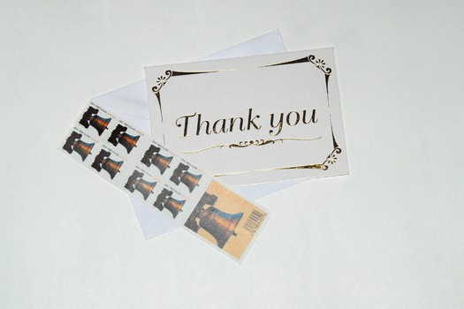 PHOTO: Taking the time to help children write thank-you notes is one way experts say parents can help foster an attitude of gratitude year-round. Photo credit: mensatic/morguefile.com