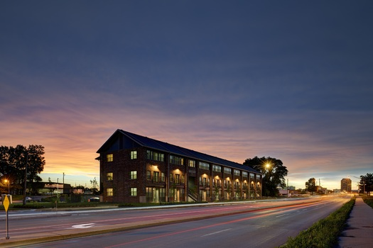 PHOTO: Among the winners of this year's Best Development Awards from 1000 Friends of Iowa is the Madison Flats apartment building in Des Moines. Photo courtesy: 1000 Friends of Iowa.