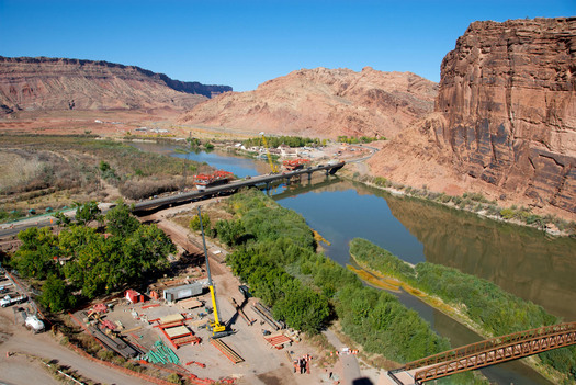 PHOTO: The Colorado River means millions of jobs and billions of dollars to Utah's economy each year, according to a new report. Photo courtesy Utah Department of Transportation.