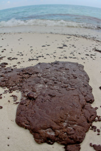 PHOTO: Oil began washing ashore on Okaloosa Island in Fort Walton Beach following the BP spill in 2010. Photo credit: Drew Buchanan/Wikimedia Commons.